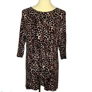 Soma Leopard Tunic Top